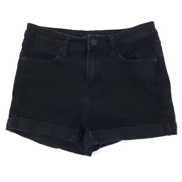 Wild Fable High Rise Jean Shorts Black Cuffed